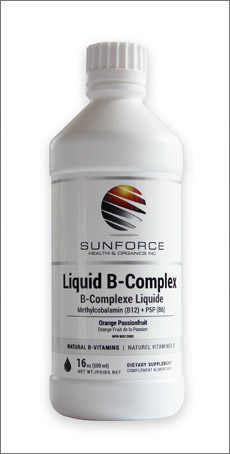 Liquid B-Complex Orange Passionfruit Flavor